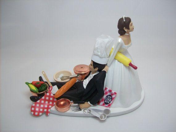 No Cooking Chef Baker Copper Pans Prepare dinner Ebook Tan Hispanic Interracial African American Bride & Groom