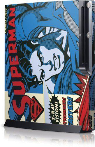 Superman - Superman - America?COs Hero - Sony Playstation 3 / PS3 Slim (4th Gen)(160/250GB) - Skinit @ niftywarehouse.com #NiftyWarehouse #Superman #DC #Comics #ComicBooks