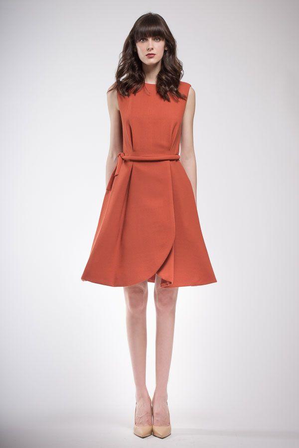 Orange lancé silk pantsuit