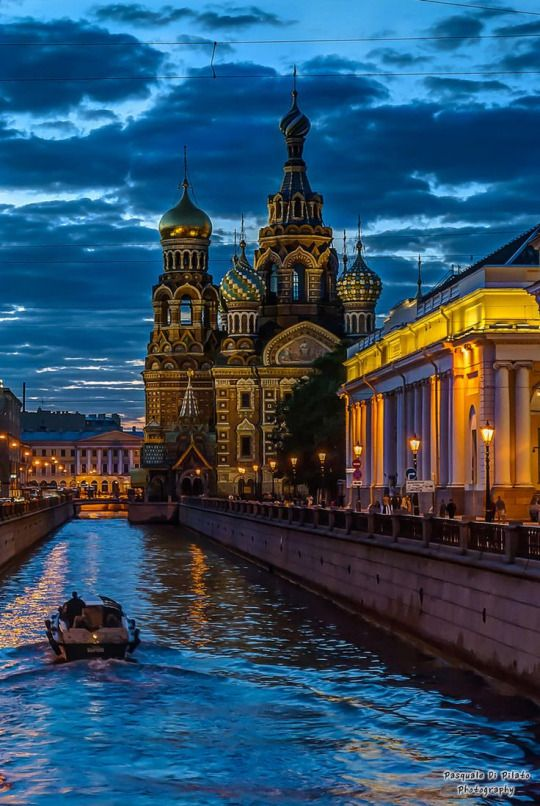 The light in the night - St. Petersburg, Russia.
