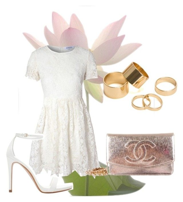 """""""In White"""" by thisismedika on Polyvore featuring Glamorous, Zara, Chanel and Pieces"""
