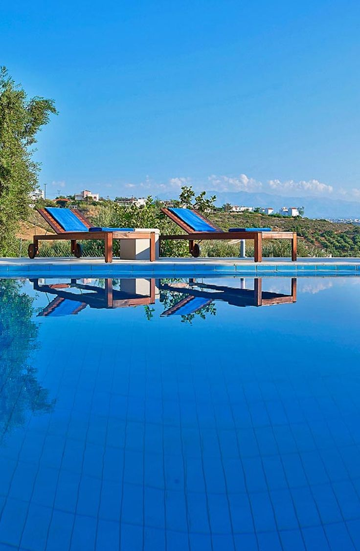 Relax and enjoy the nature in a beautiful villa! Serenity Villas in Tersanas, Chania. Visit: TheHotel.gr