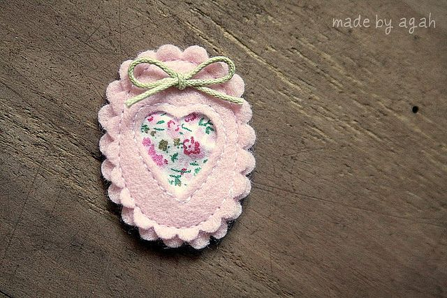 Sweet Cameo Brooch by made by agah, via Flickr