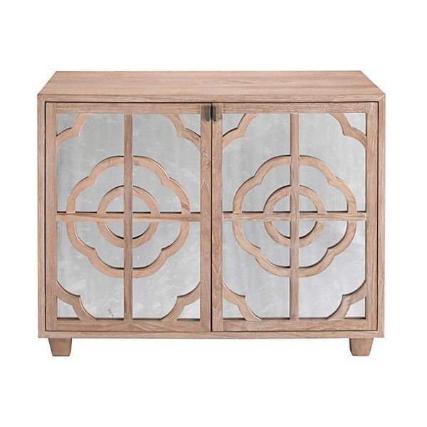 Hayle 2-Door Mirrored Dresser Natural Dressers ($1,059) ❤ liked on Polyvore featuring home, furniture, storage & shelves, dressers, home storage furniture, display furniture, storage dresser and storage furniture