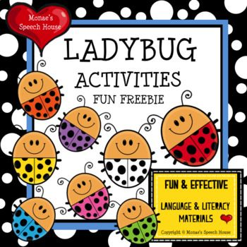 FREEThis SUPER FUN LADYBUG PACKET will give you and your students lots of opportunities to work on colors, receptive & expressive language skills, following directions, matching, and lots more!