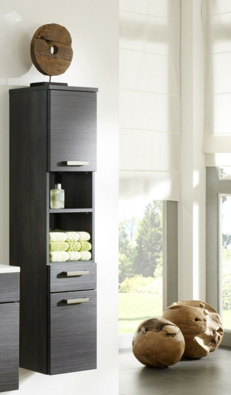 Tall cabinet for bathroom - Marano Tall Anthracite Bathroom Wall Cabinet Compact Tall Bathroom Cabinet With A Range Of Cupboard