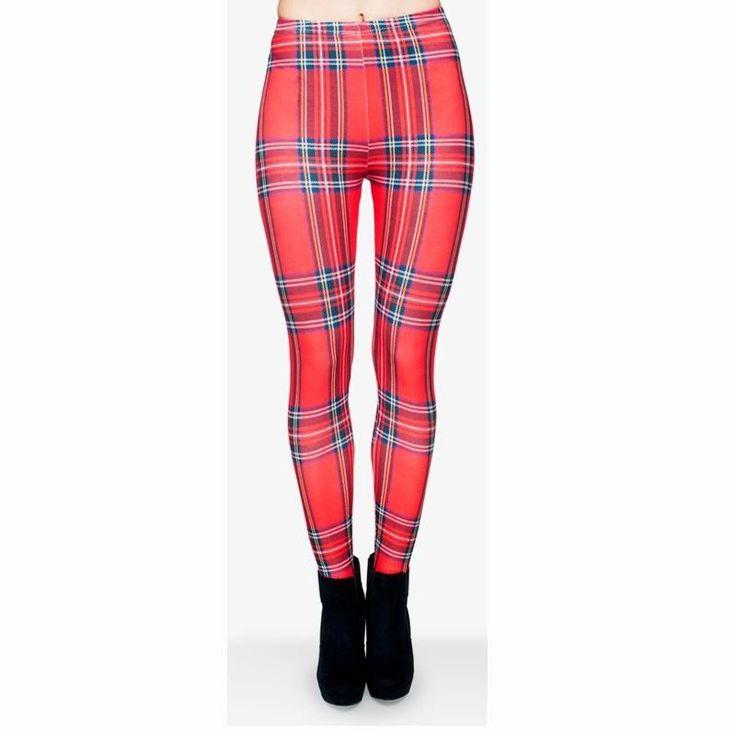 Cute Plaid leggings