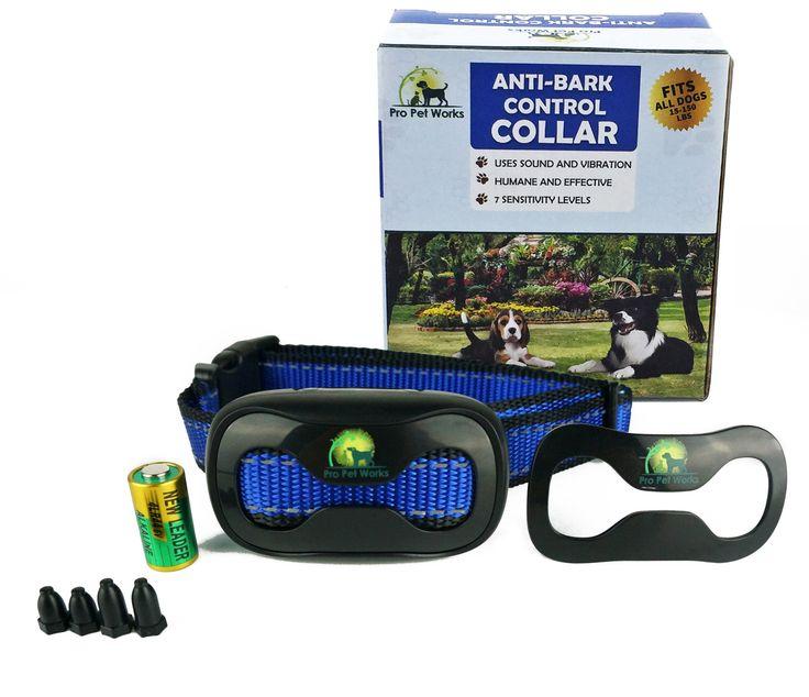 Pro Pet Works No-Bark Dog Vibration Control Collar-No Shock Anti-Bark Collar