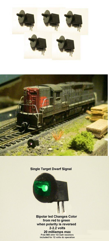 5 pcs OO HO gauge 3mm LEDs made Green//Yellow Dwarf Signals 2 aspects