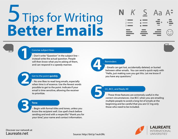 business writing tips for emails