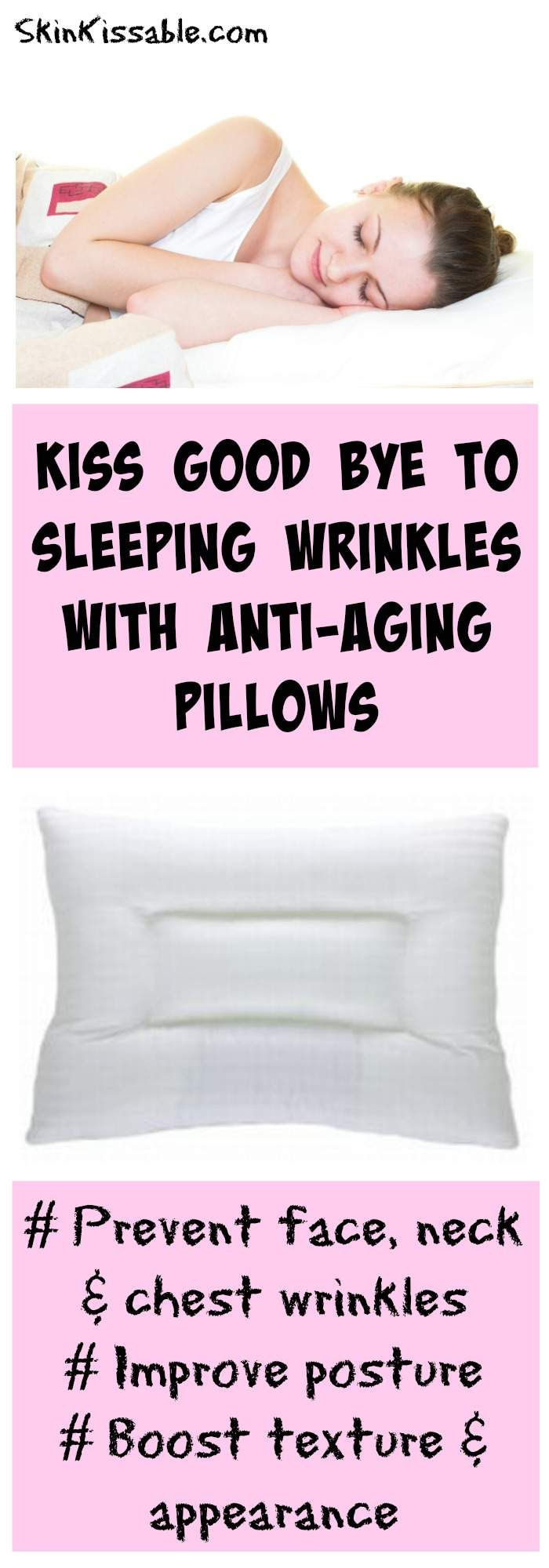Anti-aging pillows are a great invention to prevent face wrinkles for side sleepers. If you can't sleep on your back try one of these pillows to avoid waking up with sleeping wrinkles.