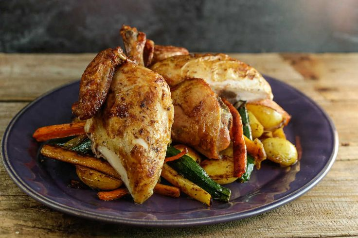 Brined Roasted Chicken and Vegetables | Vegetables, Chicken and ...