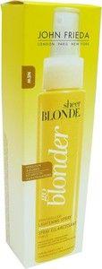 JOHN FRIEDA SHEER BLONDE SPRAY ECLAIRCISSANT 100ML - Le spray sheer blonde éclaircit les cheveux pour une couleur blonde plus naturelle.