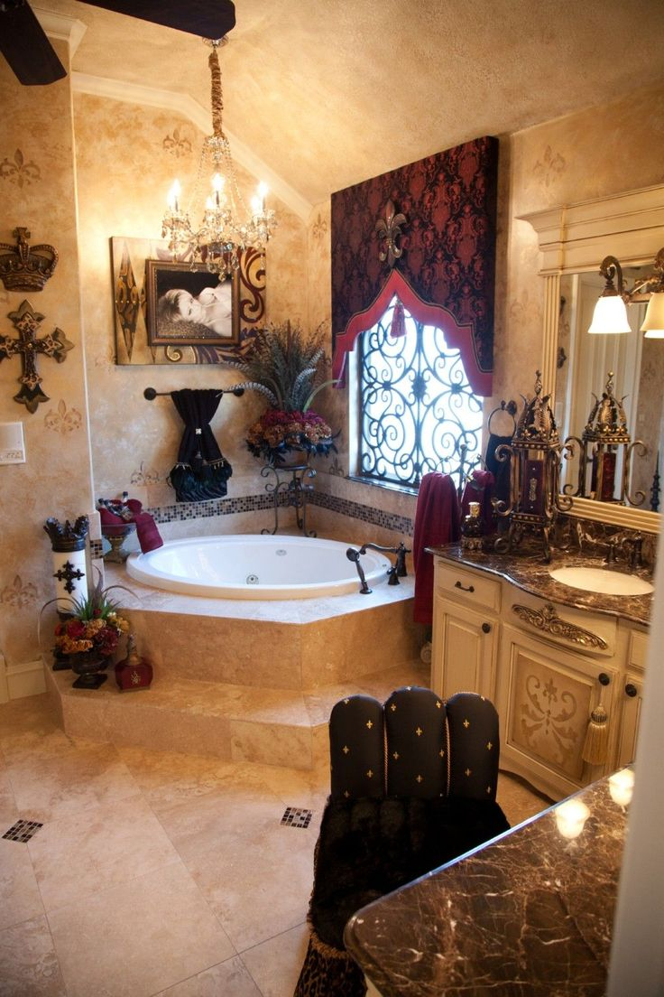 Tuscan decor bathroom - 82 Luxurious Tuscan Bathroom Decor Ideas