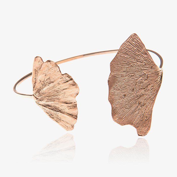 Two Gingko Bracelet