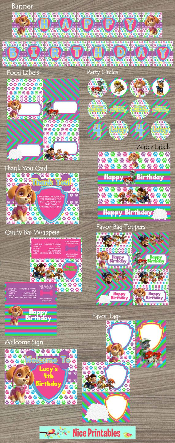 Paw Patrol Kit Paw Patrol Paw Patrol Birthday by NicePrintables, $19.00