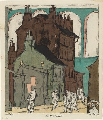 Lyonel Feininger. Street in Arceuil (Strasse in Arceuil). 1915