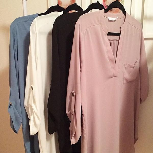 Lush 'Perfect' Roll Tab Sleeve Tunic   Nordstrom