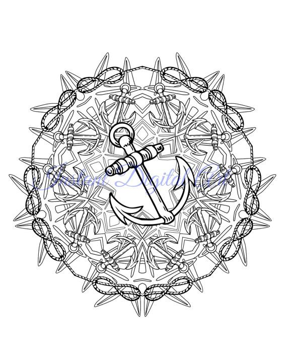 17 best images about anchors away on pinterest coloring for Adult coloring pages nautical