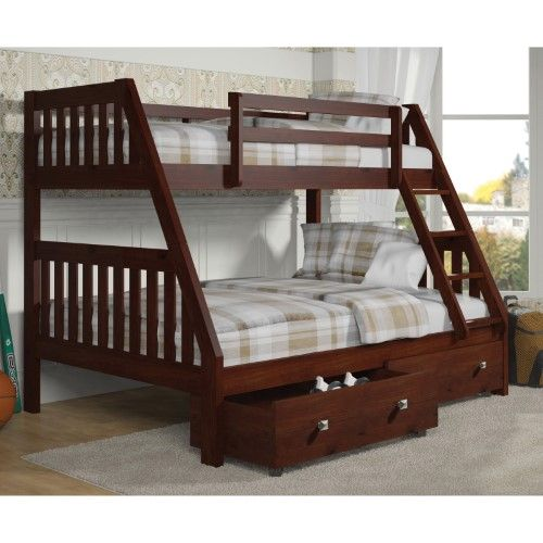 Donco Twin Over Full Bunk Bed Red Products Pinterest