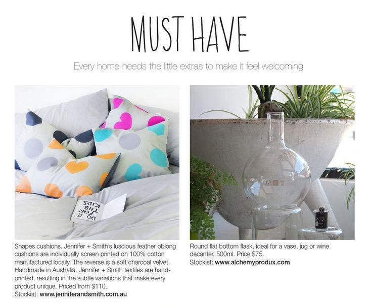 Jennifer and Smith cushions in the latest Winkelen September issue 2014! http://wallabuy.com.au/store/jennifer-smith