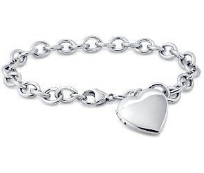 Sweetheart Locket Bracelet in Sterling Silver #bluenile