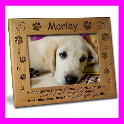 5x7 personalized custom engraved pet dog picture frame great gift - Dog Frames