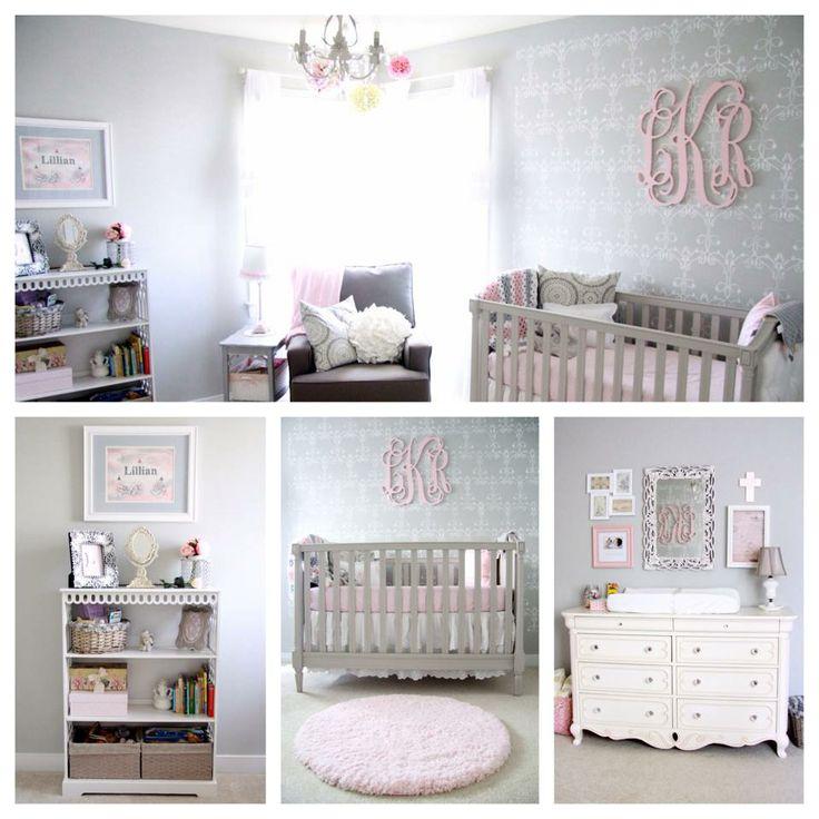 Blush Pink And Gray Nursery Benjamin Moore Stonington