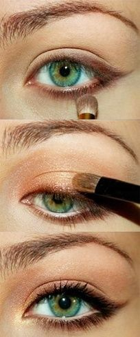How to Make Eye Makeup for a Caramel Eye Look