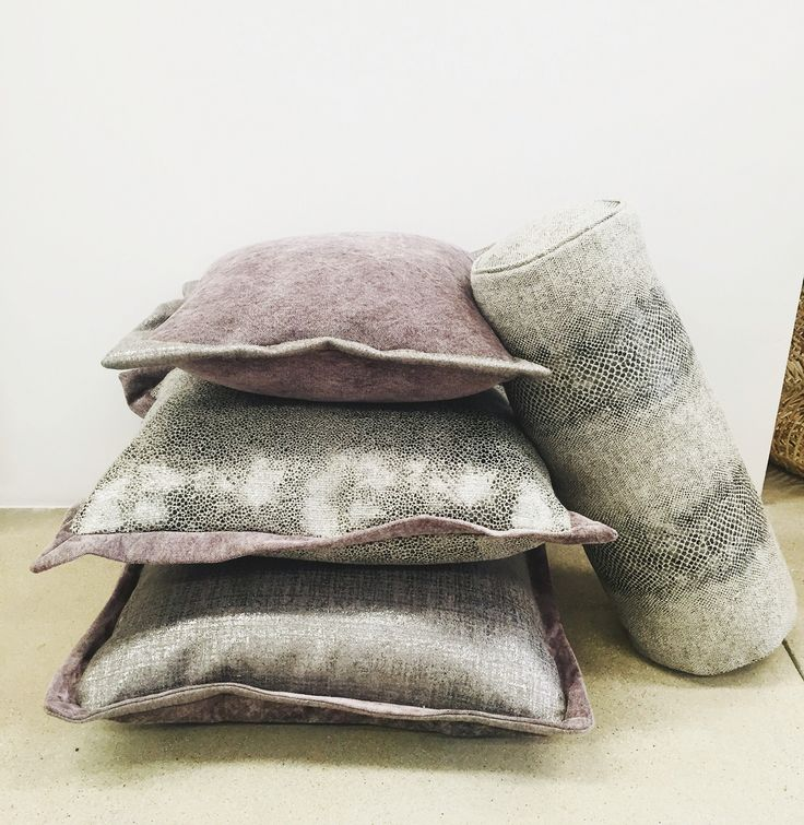 Custom pillows for a client at @sbmillworks