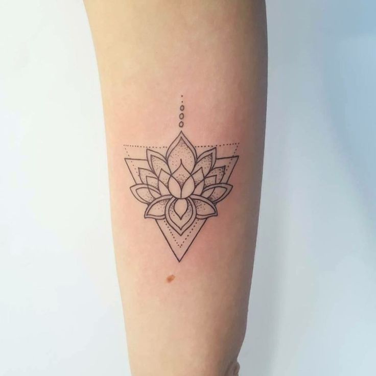 Triangle lotus tattoo