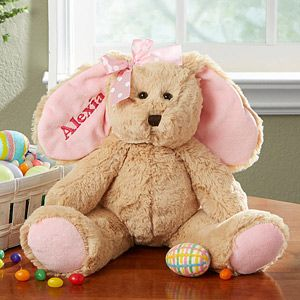 Celebrate the holiday with the Personalized Stuffed Easter Bunny - Pink. Find the best personalized Easter gifts & decorations at PersonalizationMall.com