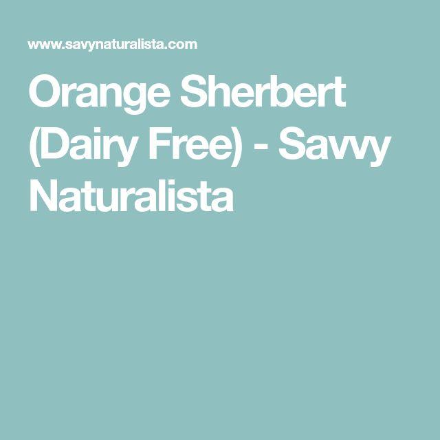 Orange Sherbert (Dairy Free) - Savvy Naturalista