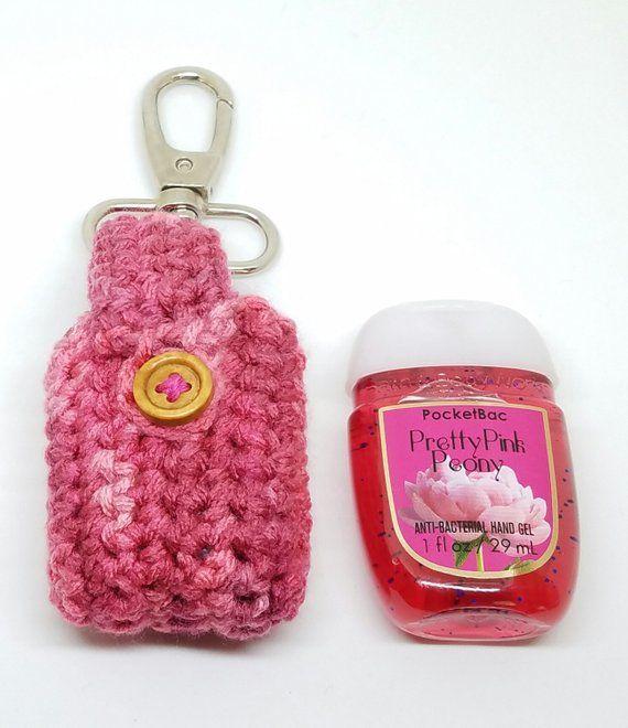 Crochet Ballerinas Valentine S Crochet Hand Sanitizer Clip Pink
