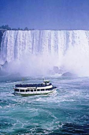 Niagara Falls - we had a trip on this boat, that was scary. It goes right up to the falls, as near as it can get! Amazing.