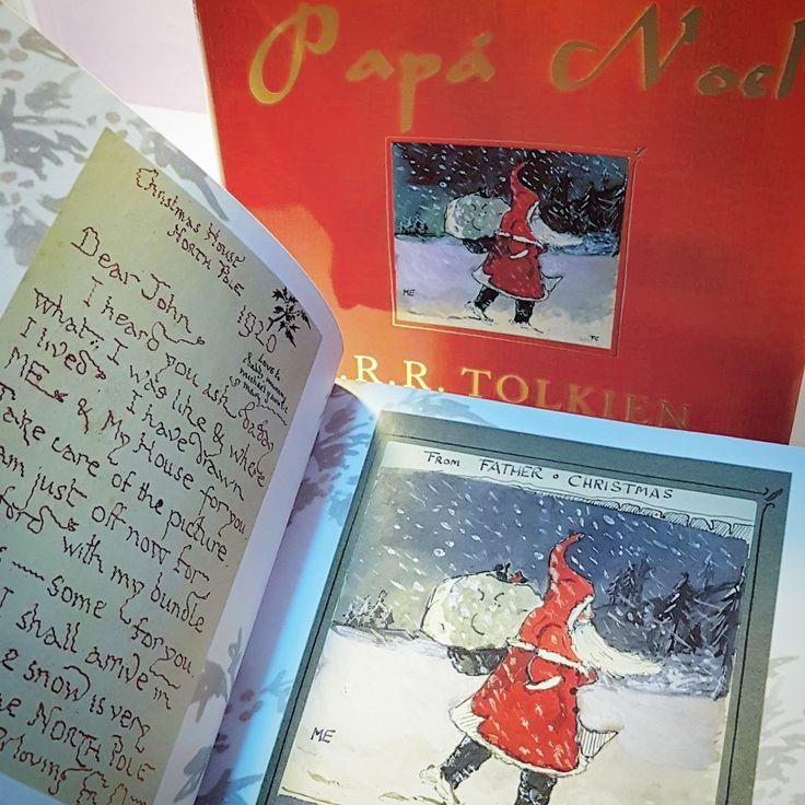 """Tolkien recopiló en este libro cartas que escribía a sus hijos. Se titula """"Papá Noel"""". Y es una joya.  """"Me he enterado de que le has preguntado a tu papá cómo soy y dónde vivo.   He hecho un autorretrato y he dibujado mi casa.  Guarda bien el dibujo.  Ahora mismo me marcho a Oxford con el saco lleno de regalos (algunos para ti).   Espero llegar a tiempo: esta noche la nieve es muy espesa en el Polo norte.   Con cariño, Papá Noel."""""""