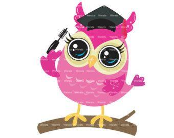 Graduation Owls Cute Clipart Graduation Clip by JWIllustrations
