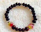 Lava rock gemstone essential oil diffuser bracelet