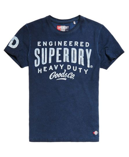 Superdry Work Wear Over Dyed T-shirt Navy