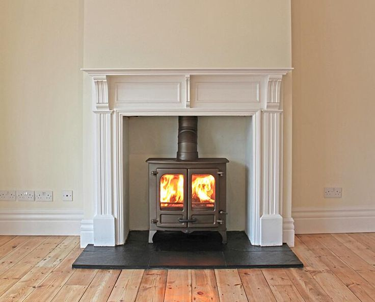 Charnwood Island 2 #woodstove with MDF bespoke mantel and natural slate tiled hearth pic.twitter.com/vSCaEHvpdN