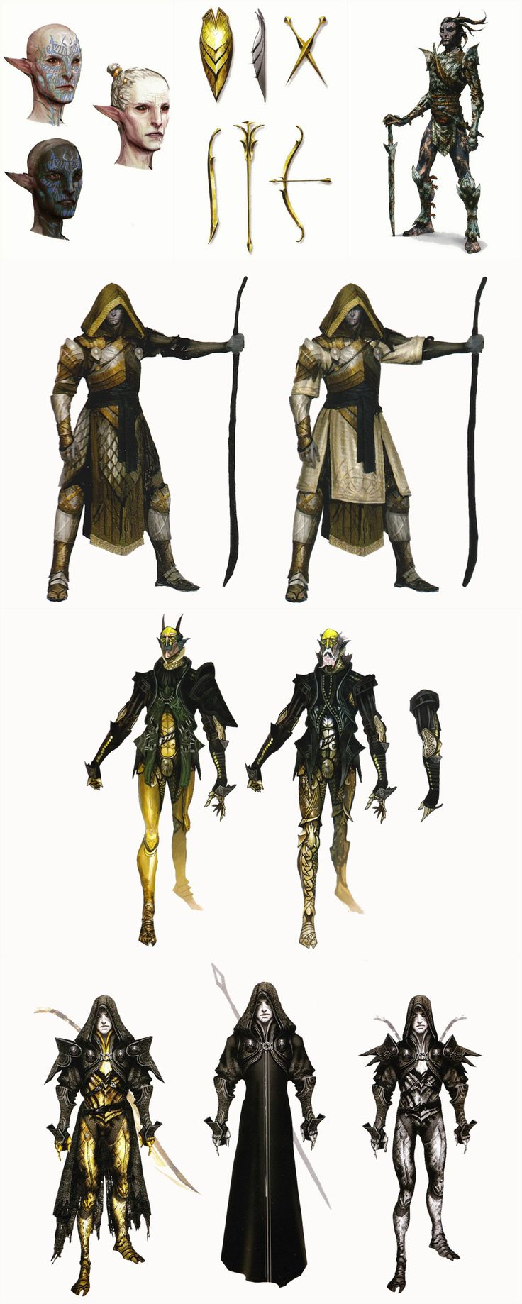 The Sentinels - The Temple of Mythal Keepers concept art in The Art of Dragon Age: Inquisition