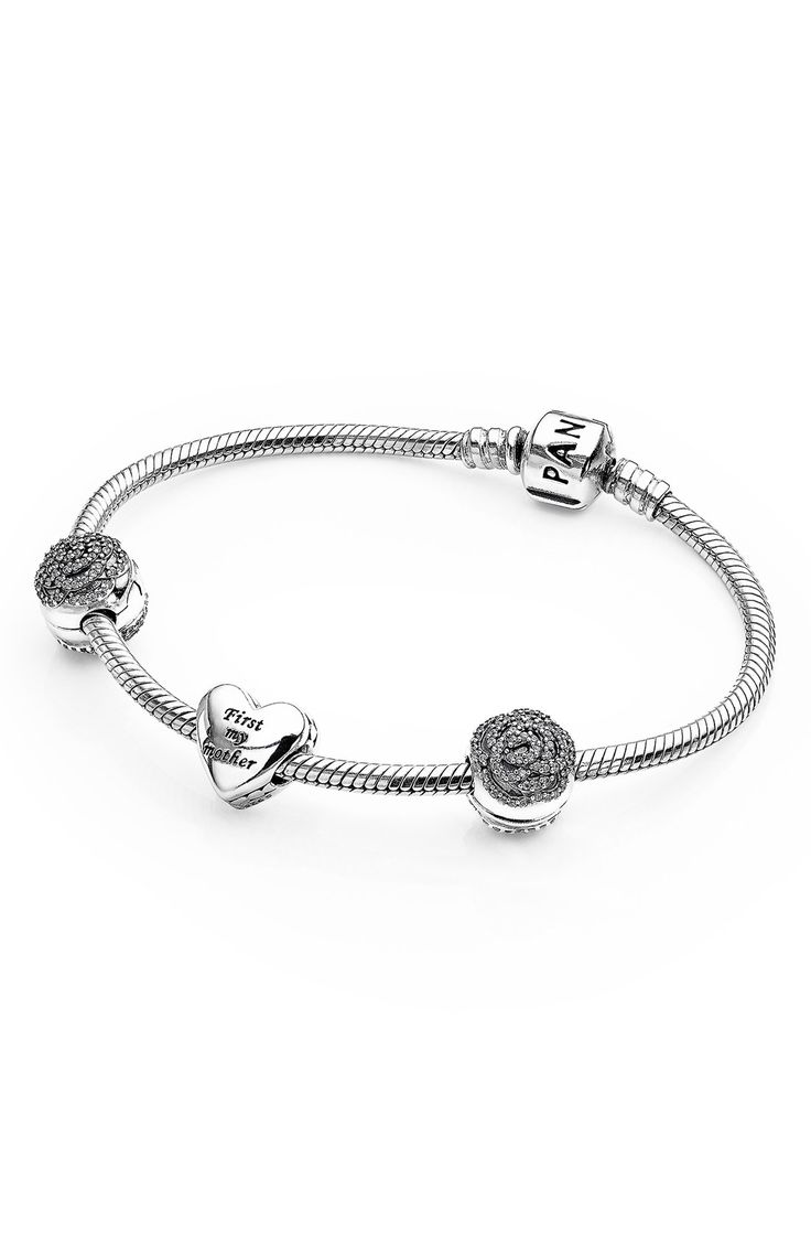 The Gift Set Includes A Signature Pandora Sterlingsilver Charm Bracelet,  Two ' Shimmering