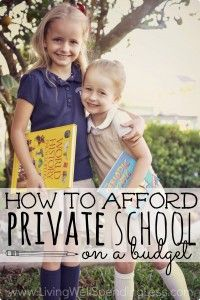 How to Afford Private School on a Budget