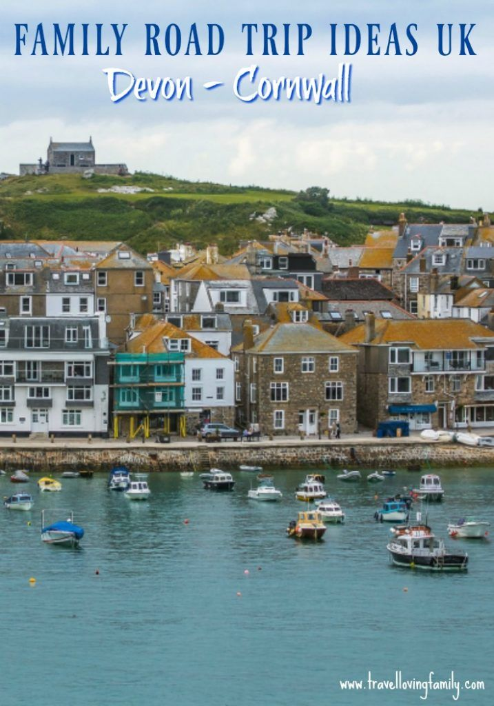 Family road trip inspiration. Featuring am example road trip itinerary from Woolcoombe, Devon to Lands End, the westernmost point in Cornwall featuring stop offs in Bude, the Eden Project and St Ives.