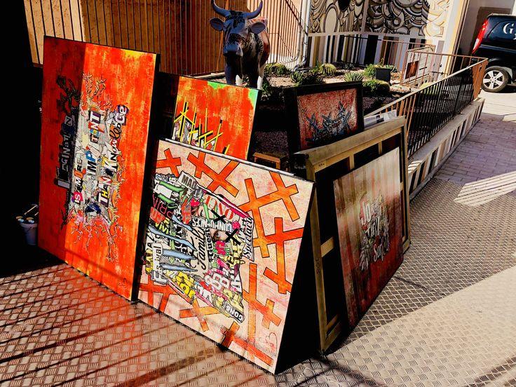 Expo PLAZA ▶️ THE END Retour à l'atelier du Suquet !  Demain matin, & ce week-end je vous ouvre, sur rendez-vous uniquement, les portes de l'atelier afin de vous présenter les tableaux qui rentrent d'expo, les nouveautés, et même les tableaux plus anciens aux tarifs allégés 😀  Créneaux pris à 9h & 11h samedi, sinon c'est encore libre le reste du temps !   See U, C'est bientôt Noël 🎁🎁🎁  #gregoryberben #berben