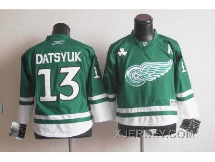 b0861b795e9 mens detroit red wings blank green 2016 st. patricks day hockey jersey