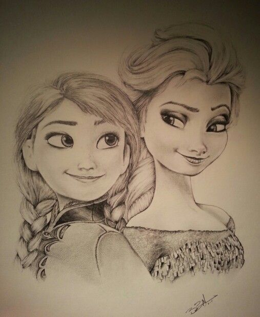 Disney Fan Art...Frozen pencil sketch