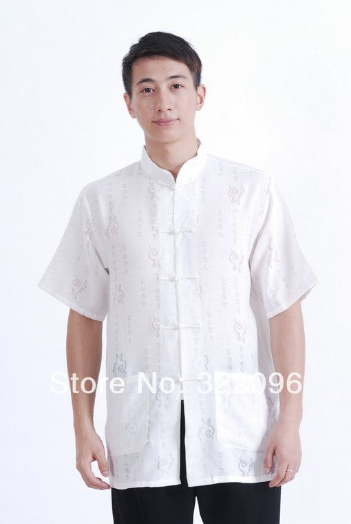 Shanghai Story hot sale Tang Top linen shirt Traditional Chinese Shirt White kungfu shirtTang suit mandarin collar shirt M0020 #Affiliate