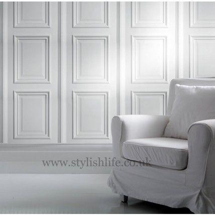 Young & Bataglia | Georgian White Panelling Wallpaper