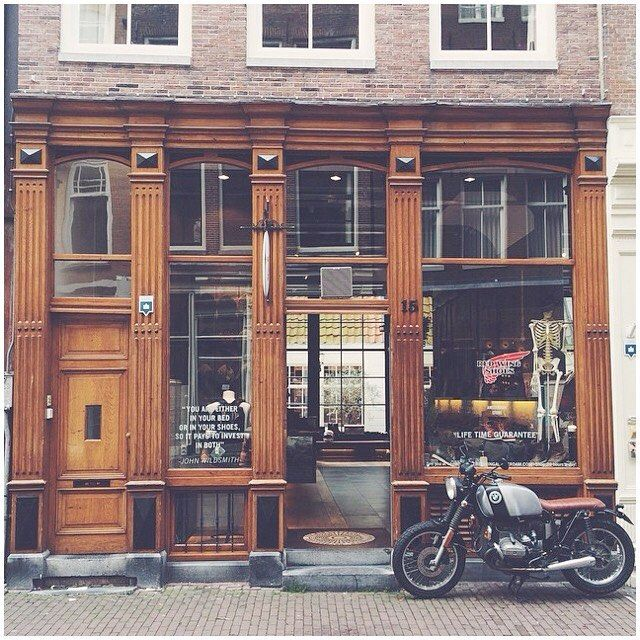 """Redwing Store in Amsterdam. """"You are either in bed or in your shoes, so it pays to invest in both."""""""